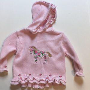 Hartstrings knit hoodie with horse